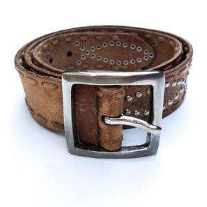 Buckle Leather Boho Belt